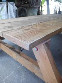 實木戶外桌  100%原木啤酒桌 長板凳 野餐桌 , 6300元一組 , 中部免運費,4.5尺 135cm_圖片(4)