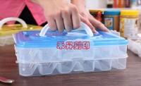 【急速出貨】餃子盒、凍餃多層保存盒、速凍保鮮收納盒、不粘黏水餃盒、可微波、帶蓋餛飩托盤、特價每個:265元(4層加蓋)_圖片(1)