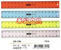 17CM塑膠直尺 COX【CR-1700】採用U.V.特殊印刷,刻度耐磨損不易脫落、特價每支:5元_圖片(1)