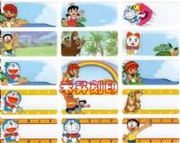 (305)哆啦a夢奇蹟之島、每份165張、特價:110元『3.0*1.3公分』中文+英文客製化姓名印刷、開學必備物品_圖片(1)