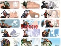 MARVEL 漫威電影系列 、復仇者聯盟(412)姓名貼紙 (附贈收納夾)、另有姓名章、會計章、發票章、每份:120元_圖片(1)