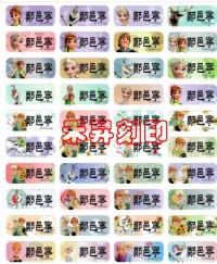 (510)冰雪奇緣(小張)愛紗、Elsa、附贈收納袋一個、小朋友上學必備姓名貼紙、特價每份:120元【客製化 學生貼】_圖片(1)