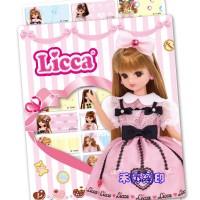 【客製化 版權貼紙】 莉卡娃娃 Licca(172) 尺寸:2.2*0.9cm 每份:300張、特價:110元_圖片(2)