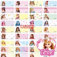 Licca (172) 正版~ 莉卡娃娃 姓名貼紙 尺寸:2.2*0.9cm 300張、贈送收納夾、每份特價:110元_圖片(3)