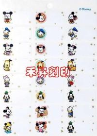 (152)迪士尼米奇家族J版 正版授權、防水耐撕、姓名貼紙 米奇.米妮,每份:152張、特價:120元、另有會計印章_圖片(1)