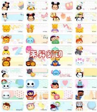 TSUM TSUM(155) ~超卡哇伊~圓滾滾,可愛又棉花糖的化身, 彩色姓名貼紙(原廠授權貼紙)每份:120_圖片(2)