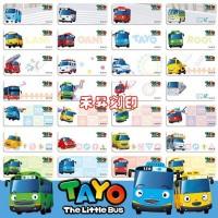 【224】【韓國TAYO小巴士】姓名貼、每份300張、特惠110元.贈專屬小文件夾、任選2份免運_圖片(2)