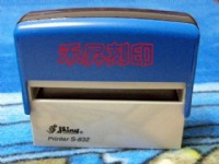 新力牌S832地址迴墨章、7.5*1.5公分回墨連續印章-保證奈印10萬次(限40字、每顆售價:280元)高雄歡迎面交_圖片(1)
