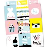 BOOTO 啵兔、姓名貼紙、2.2X0.9cm、正版授權、小朋友最愛卡通、賣場任選2份免運費、送收納夾、特價每份:120_圖片(2)