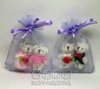 婚禮小物.淡紫色鑽點紗袋6x8cm @1包20個@1個1.7元_圖片(1)