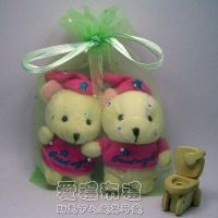 婚禮小物,粉綠色鑽點紗袋15x20cm @1包20個@1個3.2元_圖片(1)
