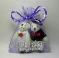 婚禮小物,淡紫色鑽點紗袋10x12cm @1包20個@1個2.3元_圖片(1)