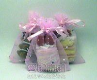 紗袋店,粉紅色鑽點紗袋7x9cm @1包20個@1個1.8元_圖片(1)