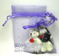 婚禮小物,淡紫色鑽點紗袋8x10cm @1包20個@1個2元_圖片(1)