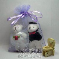 婚禮小物,淡紫鑽點雪紗袋10x15cm @1包20個@1個2.5元_圖片(1)