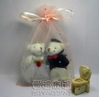 婚禮小物,粉橘色鑽點雪紗袋10x15cm @1包20個@1個2.5元_圖片(1)