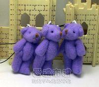 紗袋店,5公分單色裸熊(淡紫色)1支9元 _圖片(1)