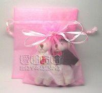 婚禮小物,粉紅雪紗袋10x12cm @1包20個@1個1.9元 _圖片(1)