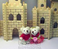 婚禮小物,3.5公分水鑽情侶紗裙熊紅色(1對)19元_圖片(1)