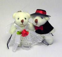 婚禮小物,5公分婚紗熊(1對)23元_圖片(1)