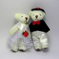婚禮小物,7公分婚紗熊(白色1對)27元_圖片(1)