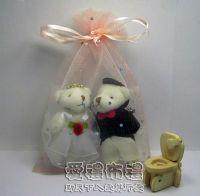紗袋店,粉橘色鑽點雪紗袋10x15cm @1包20個@1個2.5元_圖片(1)