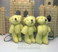 婚禮小物,5公分單色裸熊(淡黃色)1支9元_圖片(1)