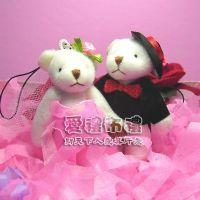 紗袋店,7公分婚紗熊(粉色1對)27元_圖片(1)