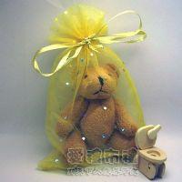 婚禮小物,淡金色鑽點紗袋15x20cm @1包20個@1個3.2元_圖片(1)