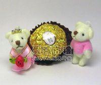 婚禮小物,3.5公分水鑽情侶紗裙熊粉紅色(1對)19元_圖片(1)