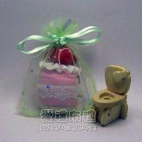 婚禮小物.粉綠色鑽點紗袋7x9cm @1包50個@1個1元_圖片(1)