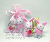 婚禮小物,3.5公分情侶紗裙兔粉紅色(1對)17元_圖片(1)