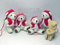 婚禮小物,5公分聖誕節小熊1支10元_圖片(1)