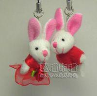婚禮小物,3.5公分情侶紗裙兔紅色(1對)17元_圖片(1)