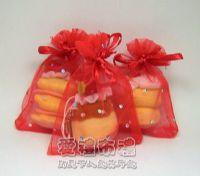 紗袋店,大紅色鑽點紗袋7x9cm @1包20個@1個1.8元_圖片(1)
