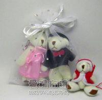 婚禮小物,白色鑽點紗袋12x17cm @1包20個@1個2.7元_圖片(1)