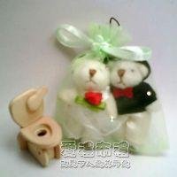 婚禮小物,粉綠色鑽點紗袋8x10cm @1包20個@1個2元_圖片(1)
