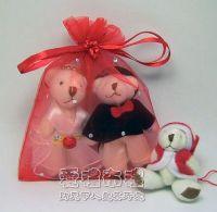 婚禮小物,大紅色鑽點紗袋10x12cm @1包20個@1個2.3元_圖片(1)
