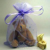 婚禮小物,淡紫色鑽點紗袋12x17cm @1包20個@1個2.7元_圖片(1)