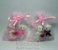 紗袋店,粉紅色鑽點紗袋6x8cm @1包20個@1個1.7元_圖片(1)