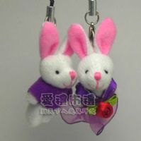 婚禮小物,3.5公分情侶紗裙兔紫色(1對)17元_圖片(1)