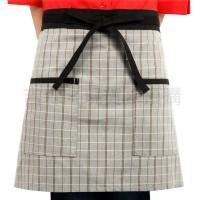 【台灣製造】灰格紋腰間短圍裙 一 促銷下殺 吉森制服_圖片(1)