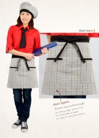 【台灣製造】灰格紋腰間短圍裙 一 促銷下殺 吉森制服_圖片(3)
