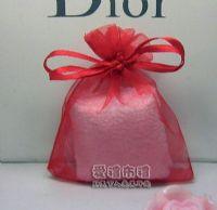 婚禮小物,大紅色雪紗袋8x10cm @1包20個@1個1.7元_圖片(1)