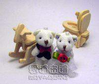 婚禮小物,3.5公分水鑽婚紗熊(1對)19元_圖片(1)