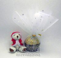 紗袋店,花瓣型白色鑽點圓形紗袋 @24cm @1包20個 @1個 1元_圖片(1)