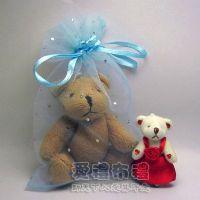 婚禮小物,水藍色鑽點紗袋15x20cm @1包20個@1個3.2元_圖片(1)
