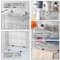 B8*不銹鋼衛浴用品浴室用品設備不鏽鋼掛放二用便利收納棚收納架置物架*清潔衛生沐浴乳洗手乳.洗髮精等.台灣製造#304_圖片(4)