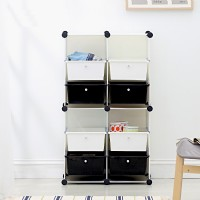 A57尋寶新天地~4大格8抽收納櫃*組合式魔術方塊玩具收納櫃置物架文具書櫃衣櫃鞋櫃衣櫥鞋架置物櫃隔間櫃屏風.可多用途使用_圖片(1)