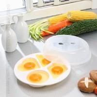N8《無煙炊具》微波蒸蛋器**媽媽廚房料理法寶荷包蛋.家人小朋友早餐上班上學.微波爐專用微波餐具.SYH-2005N_圖片(1)
